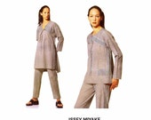 Issey Miyake Tunic Caftan Top Pants Vogue 2127 Sewing Pattern Full Figure Size 18 Bust 40 UNCUT