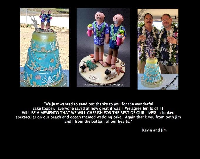Same Sex Wedding Cake Topper, Gay Wedding Cake Topper, Wedding Cake Topper for Two Men, gay marriage figurine, gay wedding statue