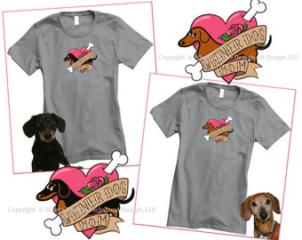 Dachshund T-Shirt Wiener Dog Mom Tatttoo