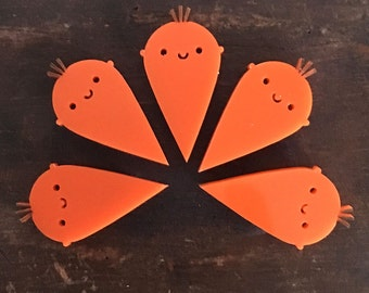 Happy Carrot Kawaii Acrylic Brooch