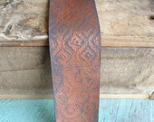 Hand Textured, Hand Painted, Recycled Leather Bracelet Blank, Created from Leather Remnants, One of a Kind, 8 x 2 Inches
