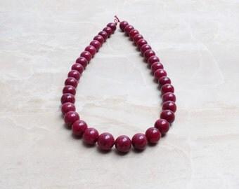 Ruby Jade bead strand