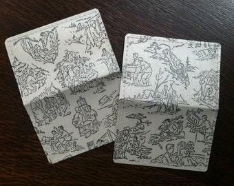 Hardy Boys Wallet, Mini-Wallet, Business Card Wallet, Credit Card Wallet, repurposed