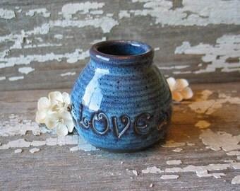 Love Jar - Valentine - Herb Jar - Bud Vase - Small flower vase - mommy vase - corked jar - READY TO SHIP