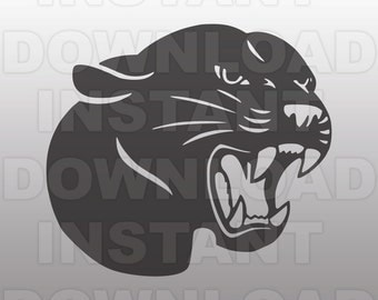 Panthers Mascot SVG File-Vector Clip Art for Commercial & Personal Use file for Cricut,Cameo,Sizzix,Pazzles,Silhouette,Decal,Vinyl