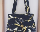 Pleated Handbag Purse Ipad Netbook Tote Song Birds
