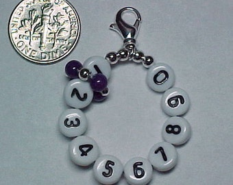Purple Mountain Jade Removable 10 Row Counter Stitch Marker - Item No. 728