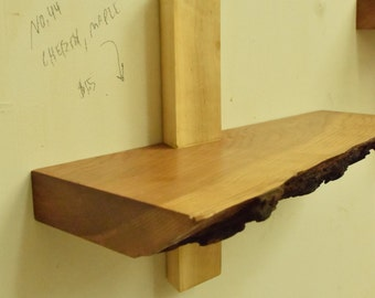 No. 44 - Maple and Live Edge Cherry Shelf
