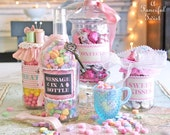 9 Assorted Sweetie Jar labels