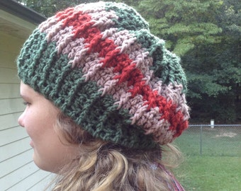 Slouchy Hat Rasta Hat Dread Hat Hippie Hat XL Hat