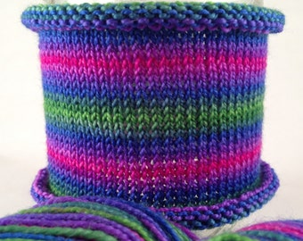 All Bets Are Off: Hand-dyed gradient self-striping sock yarn, 80/20 SW merino/nylon