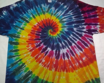 tie dye size 3XL Rainbow Spiral Shirt ready to ship