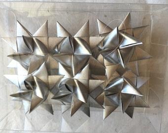Moravian Paper Star Ornaments Silver (3 inch)