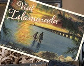 Vintage Travel Postcard Save the Date (Islamorada, FL) - Design Fee
