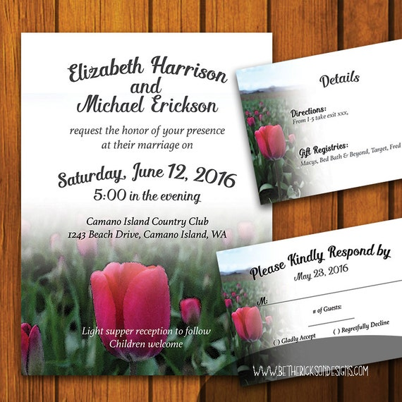 Garden Wedding Invitation Backyard Wedding Suite