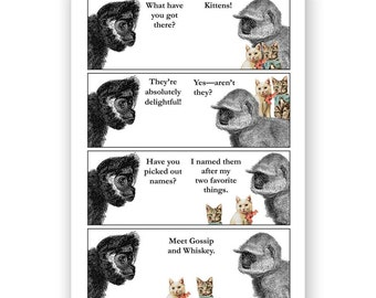 Gossip & Whiskey - Blank Card