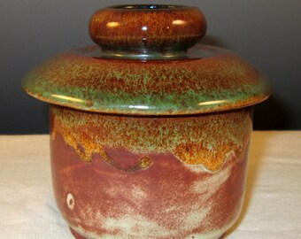 French Butter Crock in Desert Colors