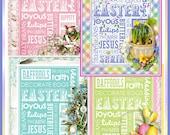 Easter Subway Art Cottge Chic Papers Set INSATNT DOWNLOAD Digital Printable