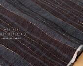 Japanese Fabric - yarn dyed yoroke knotted waves - B - 50cm