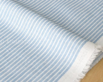Japanese Fabric - striped double gauze - light blue - 50cm