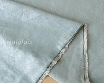 Japanese Fabric - Linen Shimmer - silver blue - 50cm