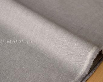 Japanese Fabric Yarn Dyed Brushed Twill - light taupe grey - 50cm