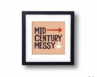 Mid-Century Messy Print