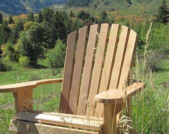 1 Adirondack Chair Kit Unfinished   99% CLEAR WOOD