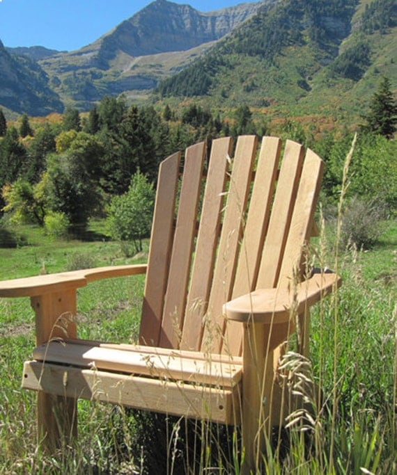 Adirondack chair kit unfinished clear wood