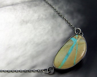 Royston Ribbon Turquoise Necklace // Sterling Silver