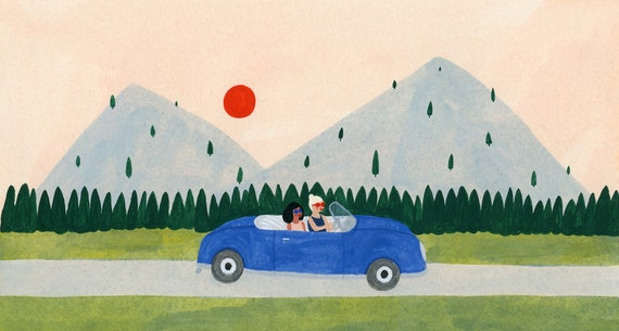 Road Trip Print 9x12