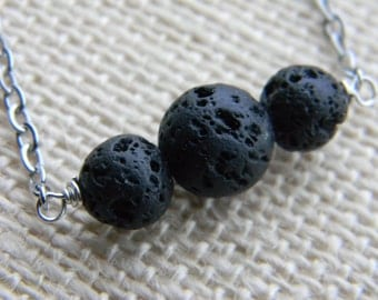 Essential Oil Necklace ~ Lava Rock ~ Aromatherapy ~ Diffuser Lava bead Necklace
