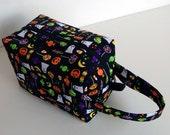 HOLIDAY SALE - Halloween Candy Ghost Pumpkin Zipper Box Knitting Project Bag