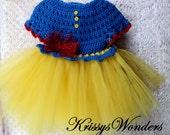 Easy - Tutu Dress Crochet Pattern - Crochet Dress Pattern - 12-18mo 2t-3t 4-5yr - Crochet Shrug