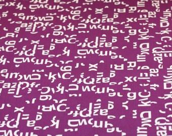 20% Off! Jessica Jones for Cloud 9 ORGANIC FABRIC - Typography - Helvetica - Grape
