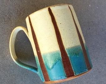 Vanilla Sky mug, coffee mug, tea cup, handmade pottery mug