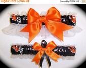 FALL SALE Handmade Wedding Garter Set Cincinnati Bengals Keepsake and Toss Bridal ob1