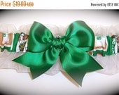 SALE 10% OFF Handmade Wedding Keepsake Garter Boston Celtics Bridal ew1