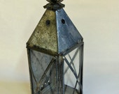Antiqued Shaker Style Tin Lantern