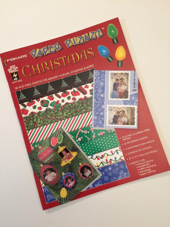 Scrapbook paper booklet - Scrapbook Paper Christmas By Paper Pizazz Booklet