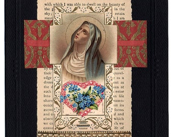 Sympathy Card Collage Mystery of Life Mary