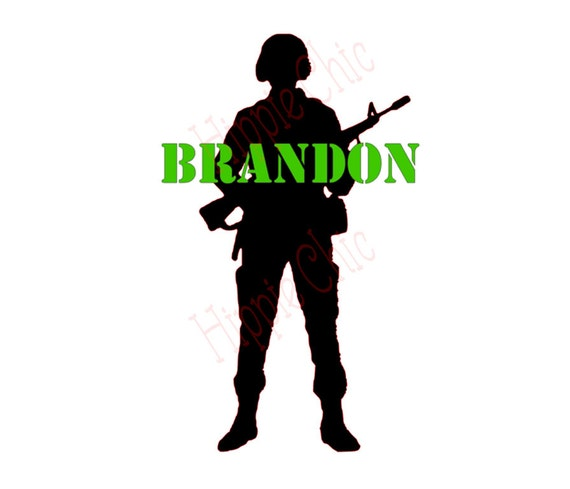 xbox, ps3, army, soldier name decal