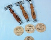 Reserved for Marina 3 Handcrafted Groomsmen Gift Mach3/DE Safety Razor Personalized Option