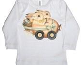 Easter Bunny Infant Long Sleeve T shirt, Easter Rabbit Baby Shirt, Infant Tee,  newborn, 3 months, 6 months, 12 months, 18 months