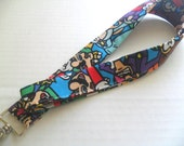 Nintendo Lanyard - Fabric Lanyard - ID Badge Holder - Keychain - Badge Holder - Key Chain - Super Mario Brothers