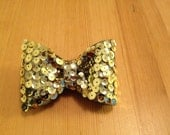 Gold Sequined Bow Tie