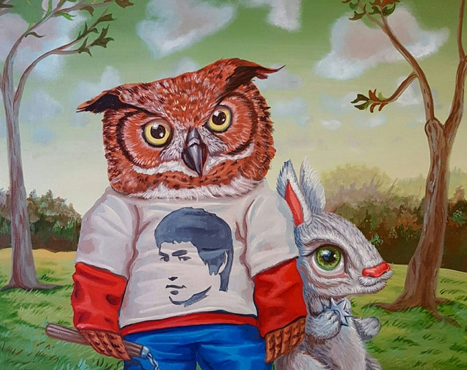 Kung Fu Buddies - Original painting by Mr Hooper of Nashville Tennessee