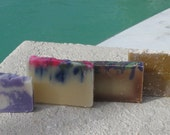 Sample Packs Cold Process Handmade Soap Assorted  Hippie  Woodstock Collection 7 oz or more