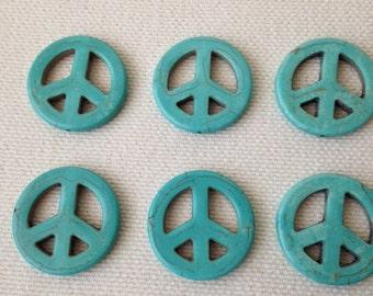 Six Peace Sign Beads