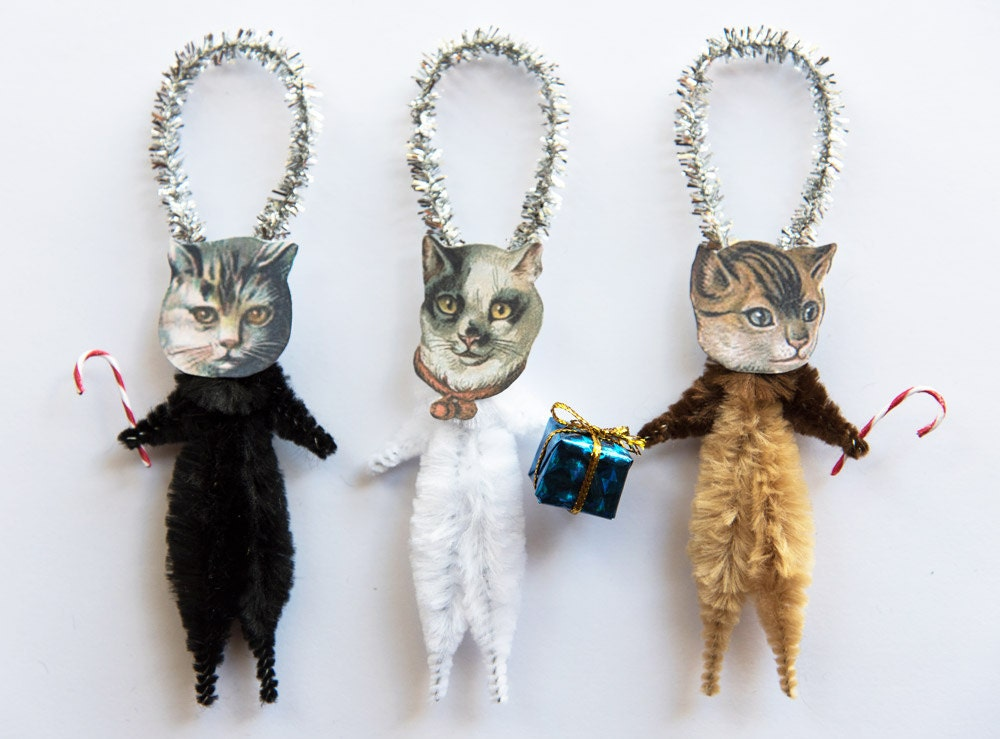 Holiday Ornaments Cat Christmas Ornaments Christmas Tree
